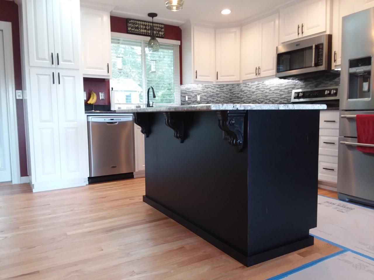 Creative Custom Cabinets White Kitchen Cabinets With Dark Island