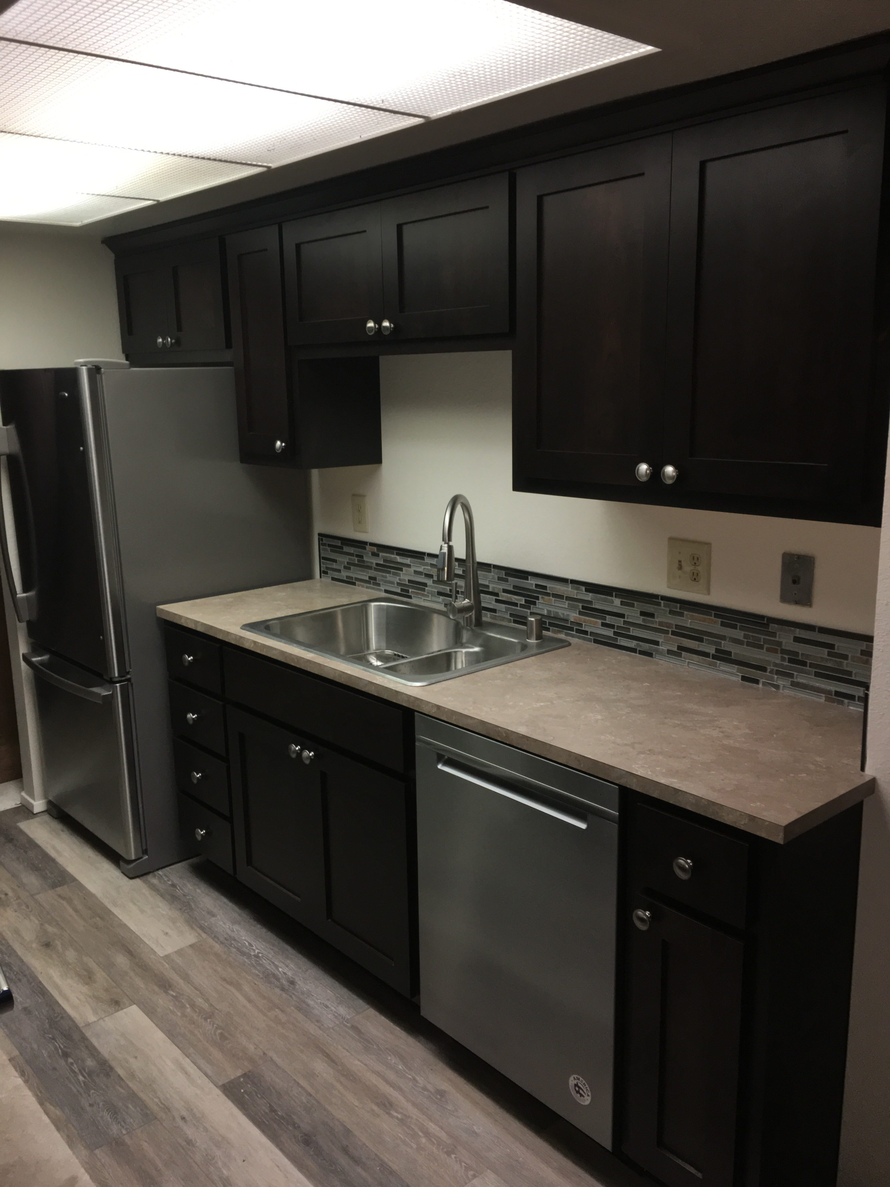 The Footprint And Design Of The Kitchen Didnu0027t Change, But We Were Able To  Squeeze A Little More Room Into The Kitchen Due To The Way Custom Cabinets  Are ...